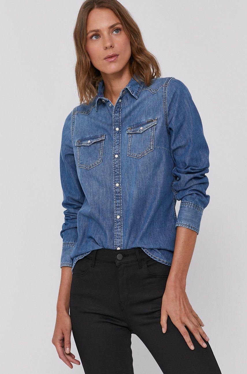 Pepe Jeans - Camasa din bumbac denim Rhonda