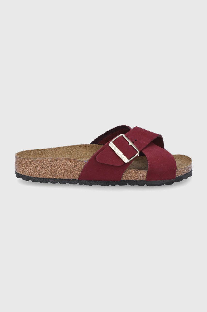 Birkenstock - Papuci din piele 1020628.Maroon