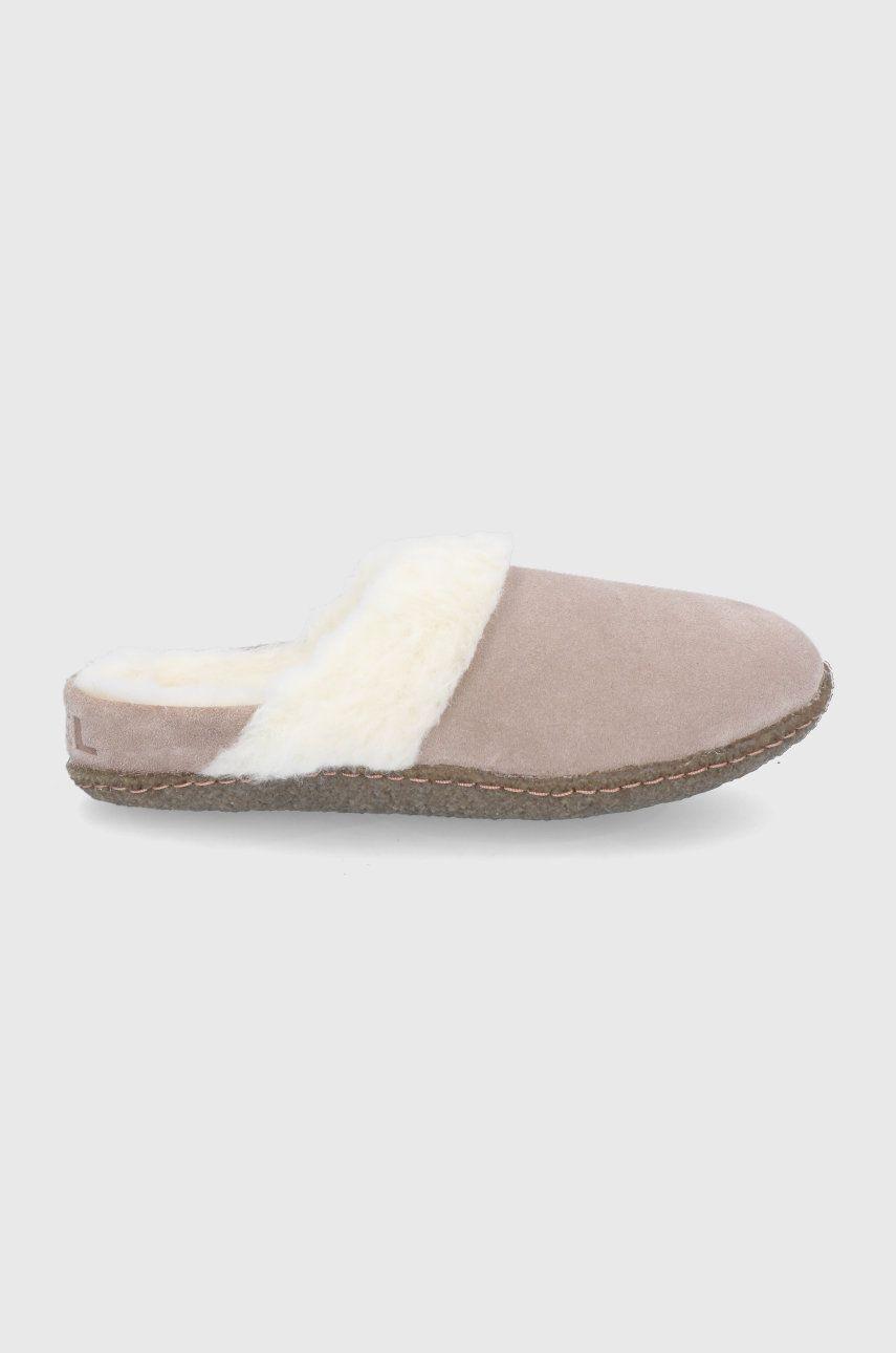 Sorel - Papuci din piele intoarsa Nakiska Slide II