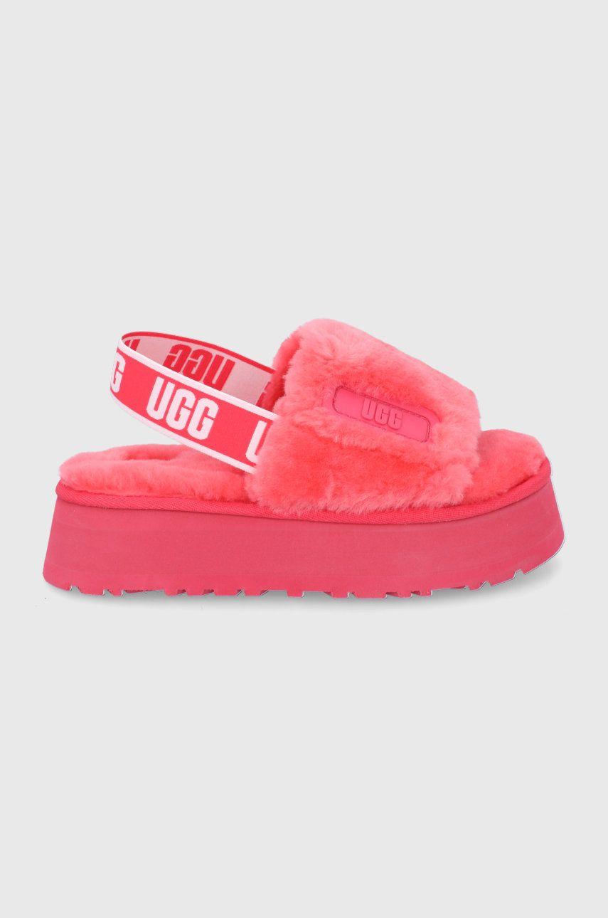 UGG - Papuci de lana Disco Slide