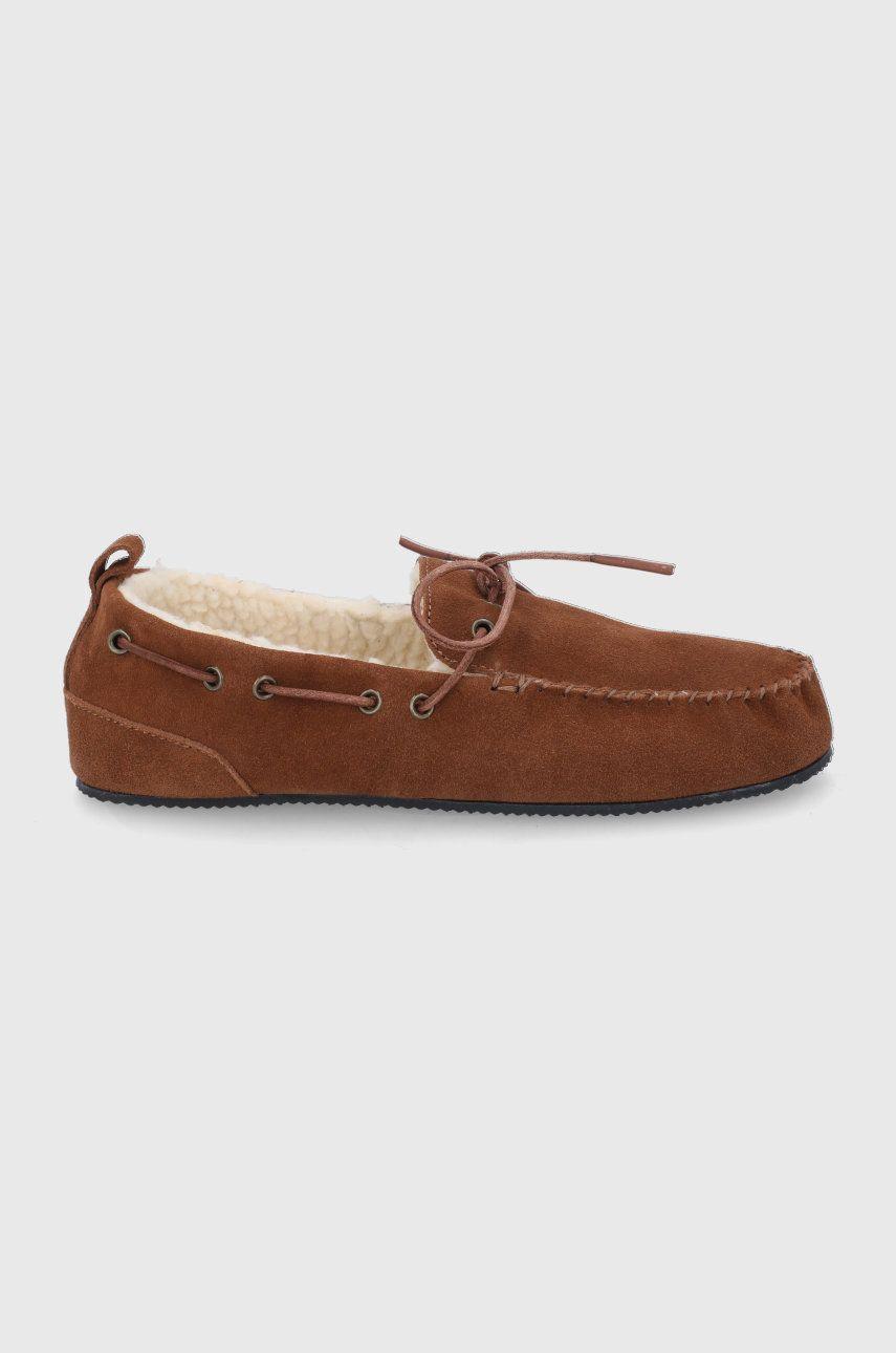 Superdry - Semišové papuče