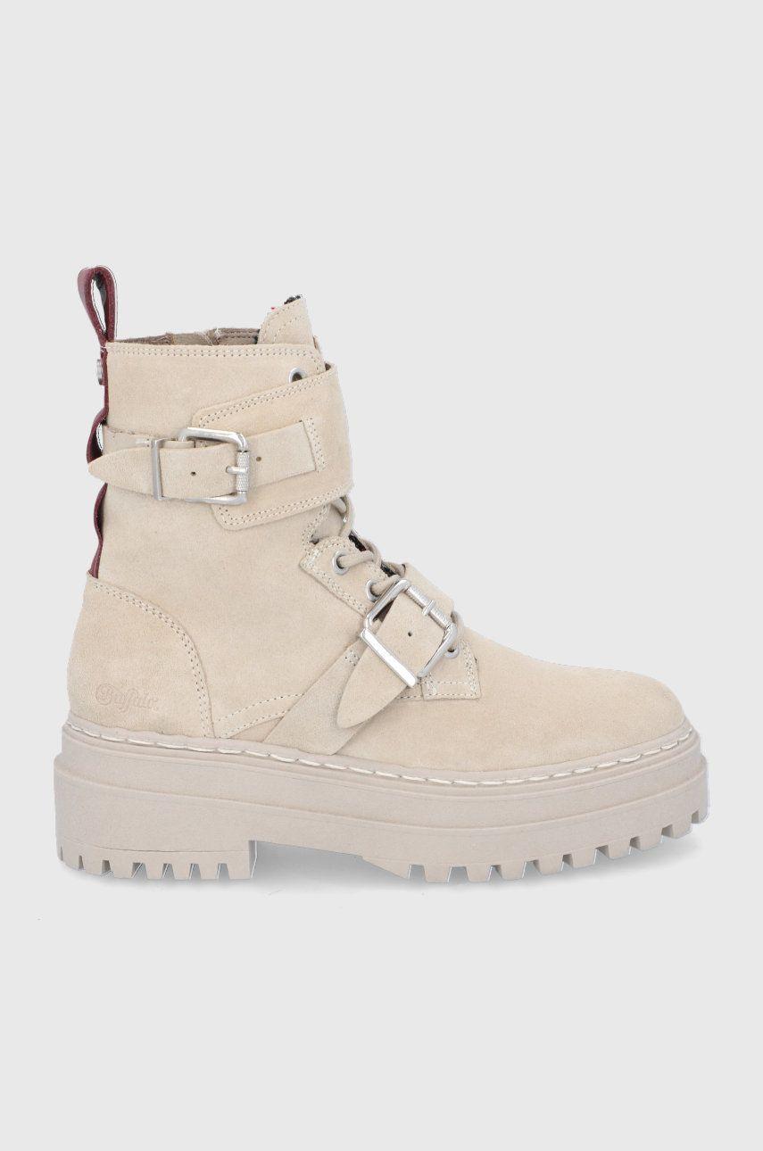 Buffalo - Semišové boty Sari