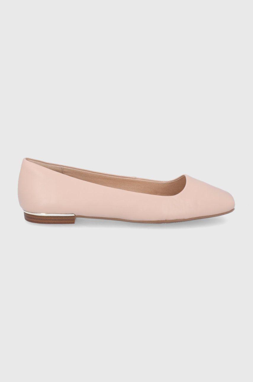 Balerini dama Aldo de piele Koosaflex roz