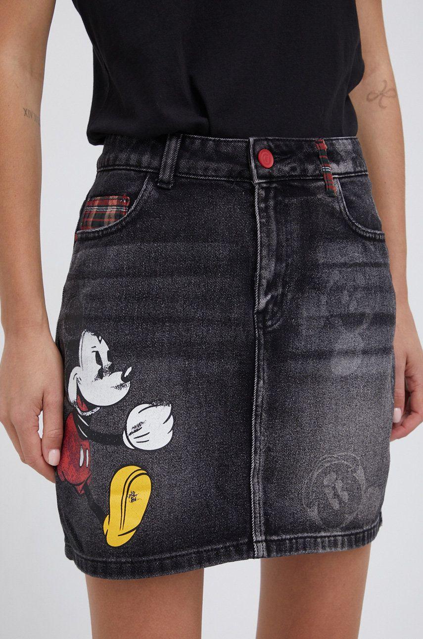 Desigual - Fusta jeans Mickey Mouse