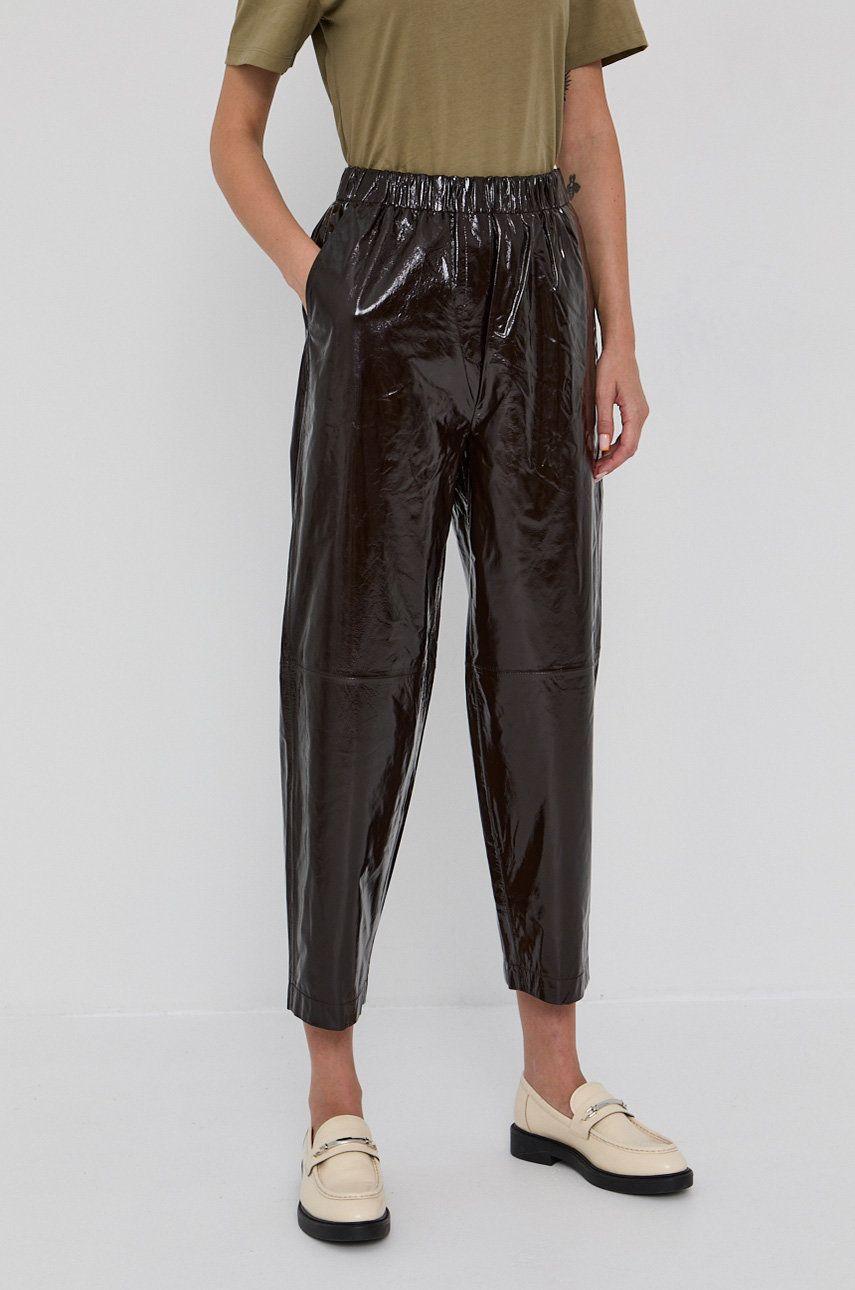 Samsoe Samsoe - Pantaloni de piele