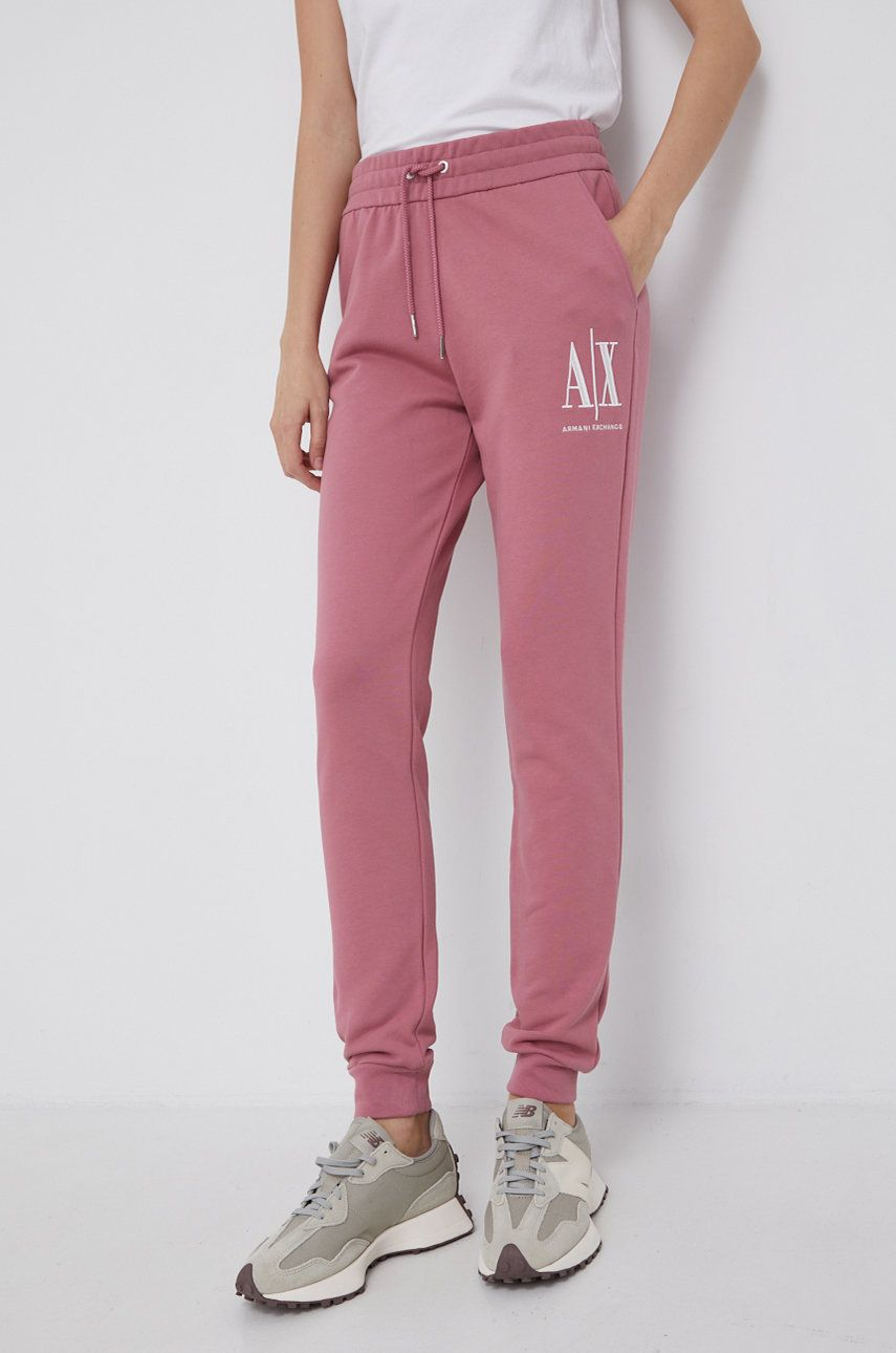 Armani Exchange - Pantaloni de bumbac