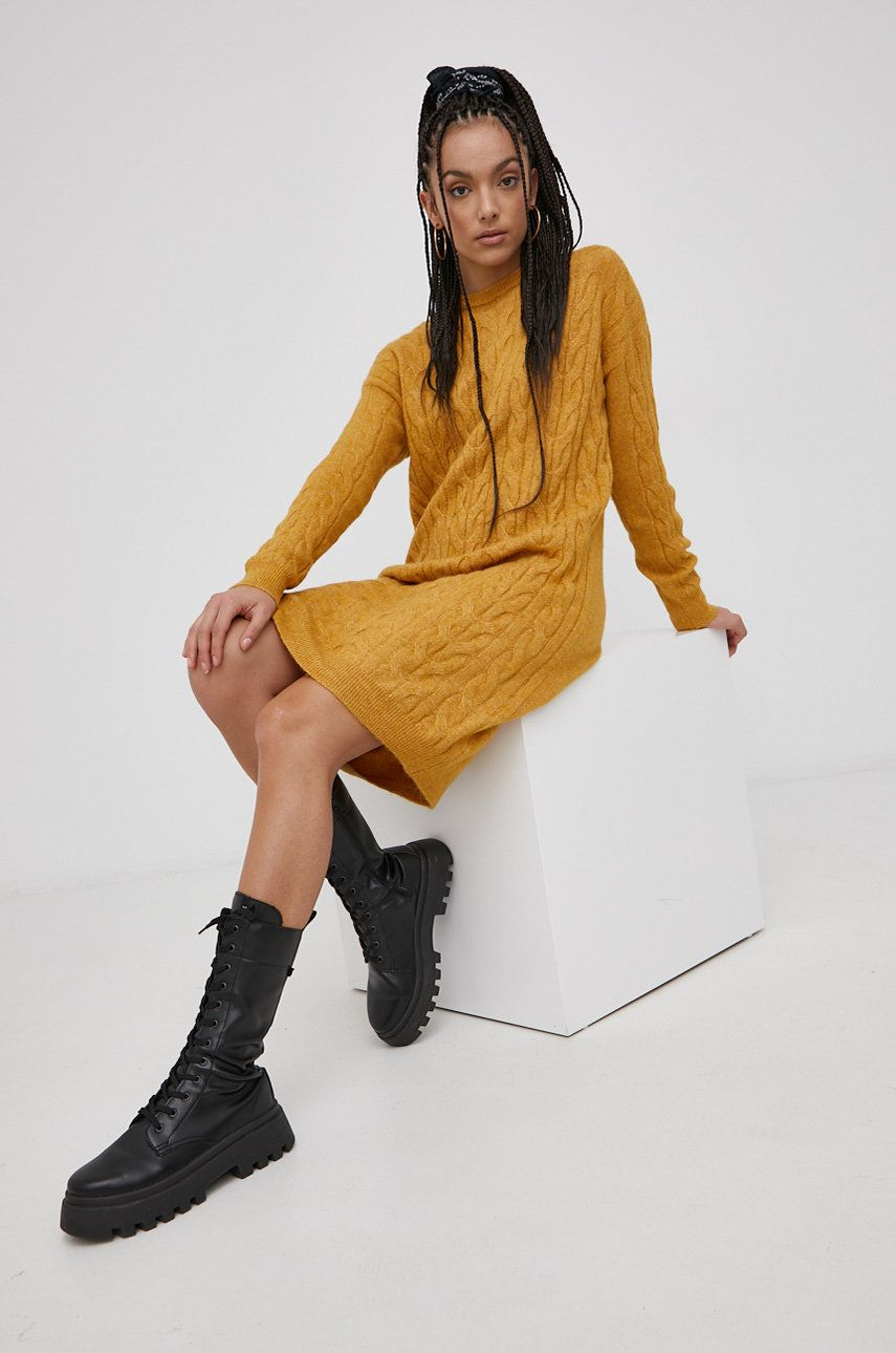Vero Moda - Rochie din amestec de lana