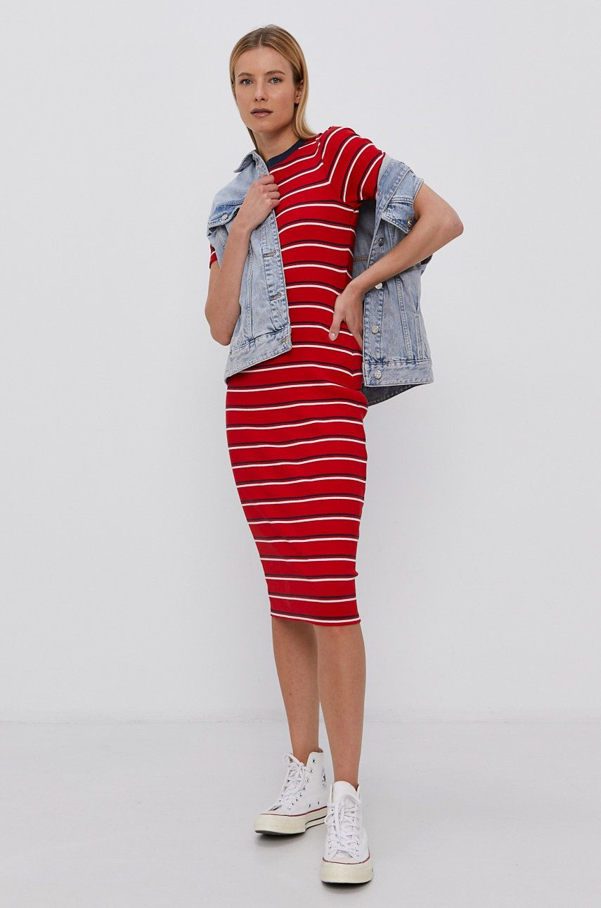 Tommy Jeans - Rochie din bumbac