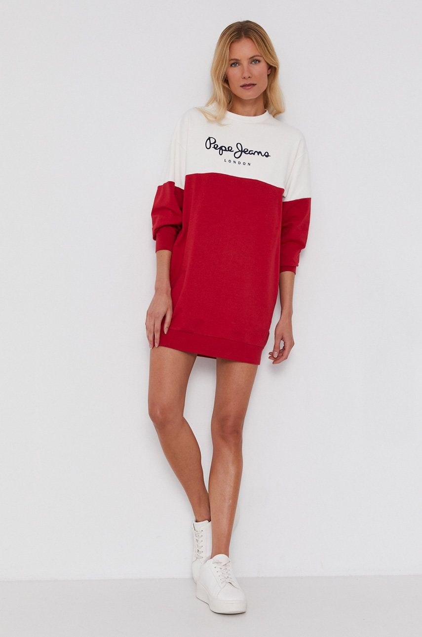 Pepe Jeans - Rochie Blanche