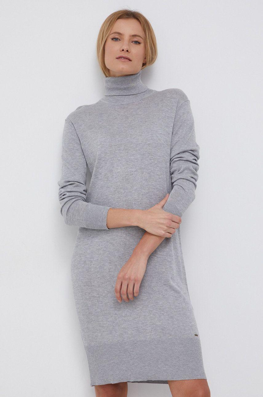 Pepe Jeans - Rochie din amestec de lana Edna