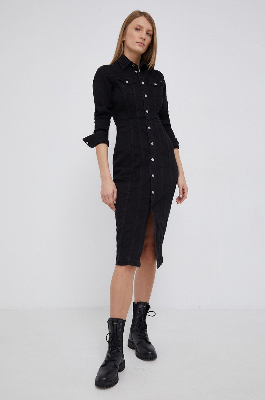 Pepe Jeans - Rochie jeans Claire