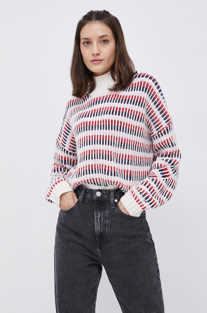 Tommy Jeans - Pulover din amestec de lana
