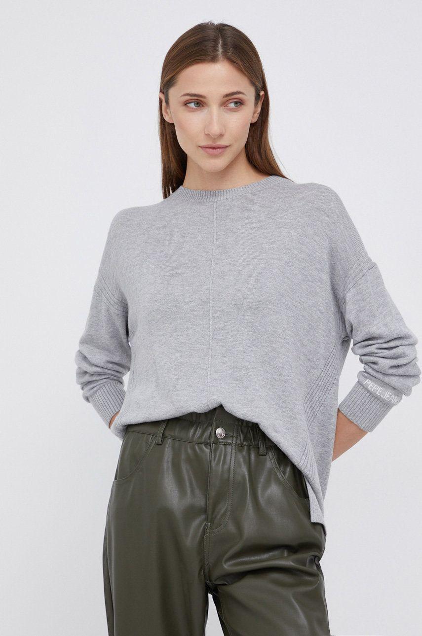 Pepe Jeans - Pulover din amestec de lana Carol
