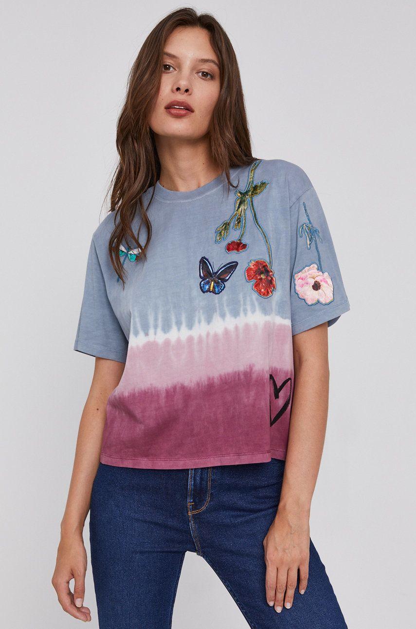 Desigual - Tricou din bumbac