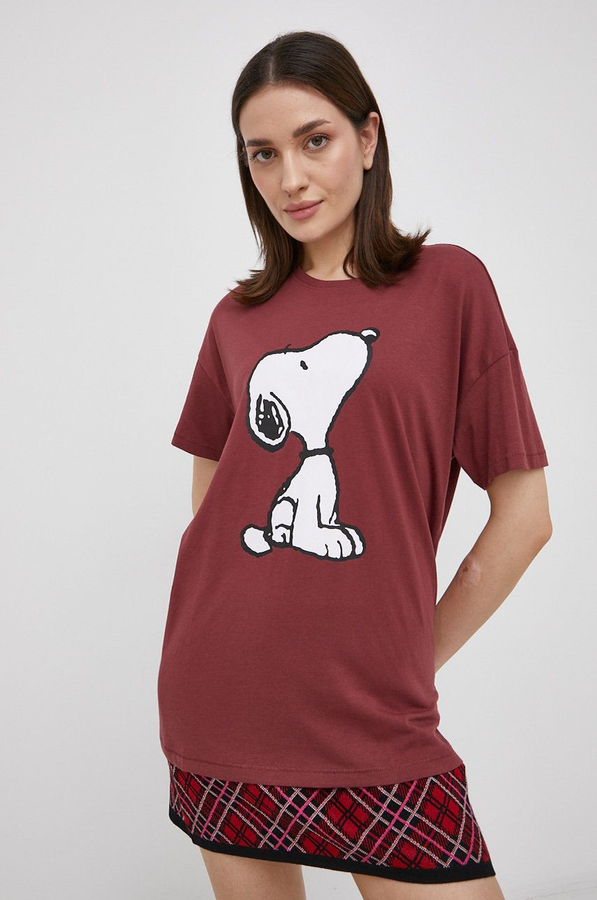 Only - Tricou din bumbac x Peanuts