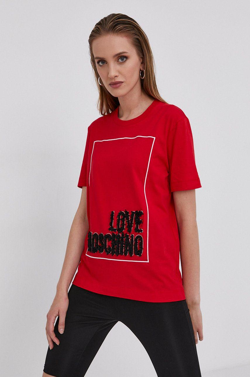 Love Moschino - Tricou din bumbac