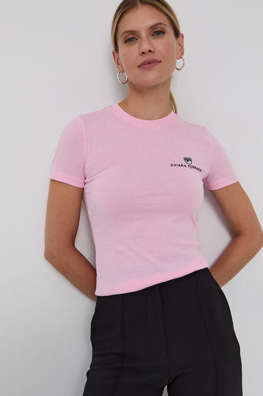 Chiara Ferragni - Tricou din bumbac Logo Basic