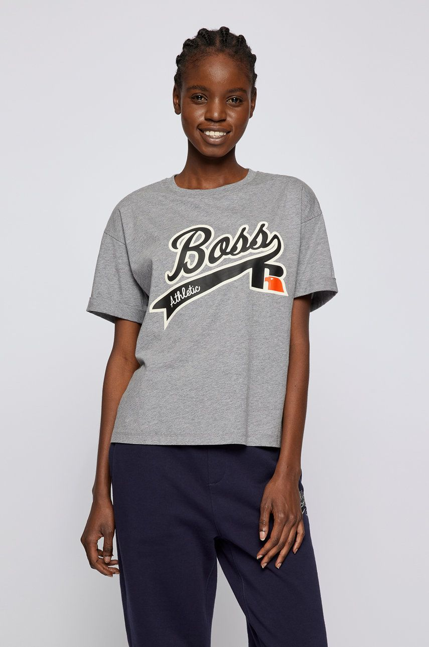 Boss - Tricou din bumbac Boss x Russel Athletic