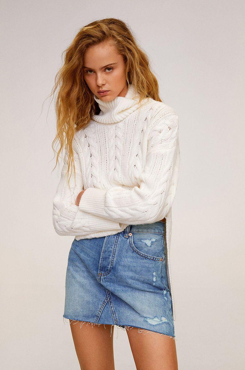 Mango - Fusta jeans Monica