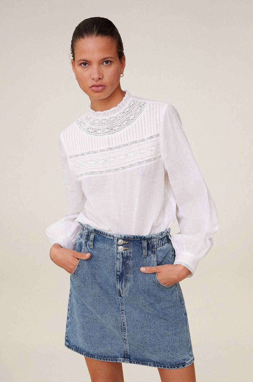 Mango - Fusta jeans Paperbag