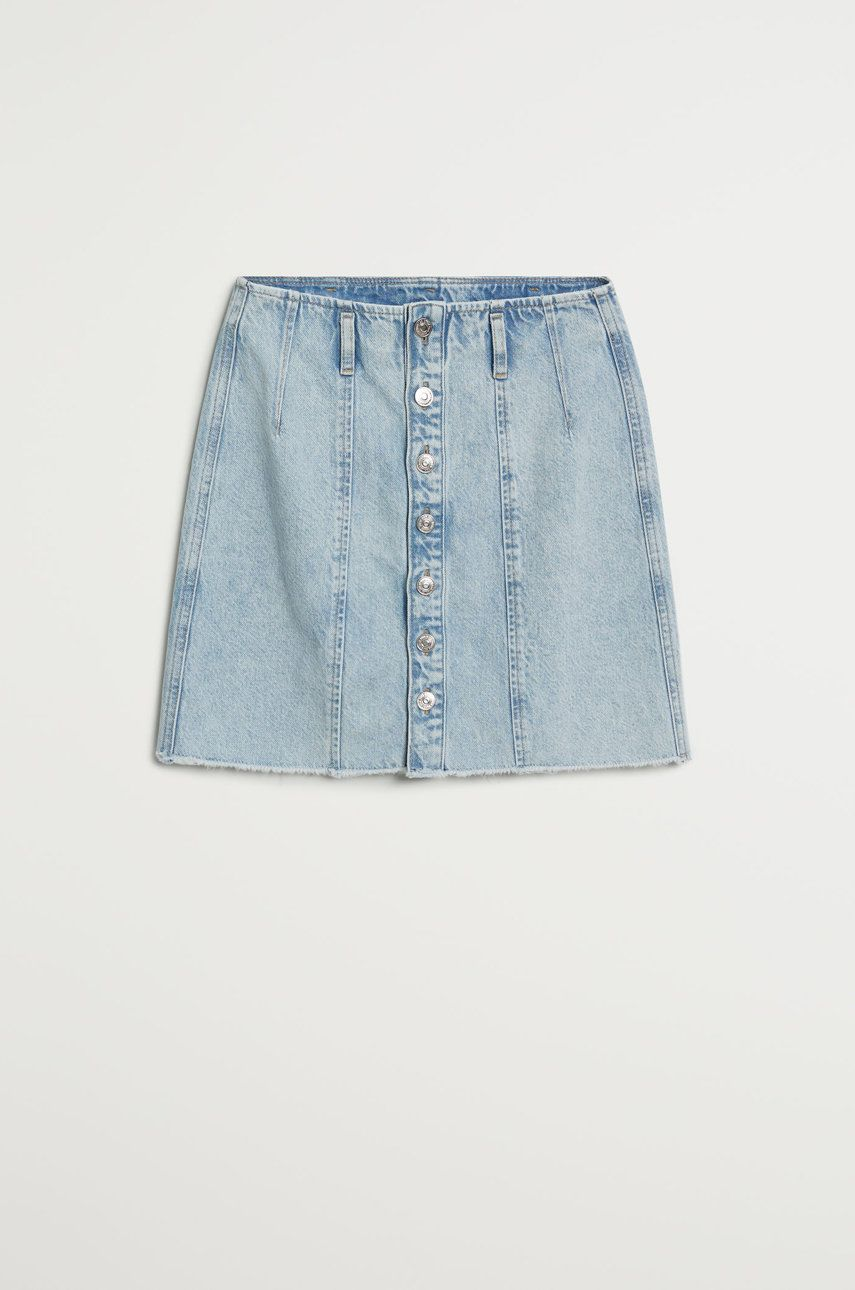 Mango - Fusta jeans Buttons