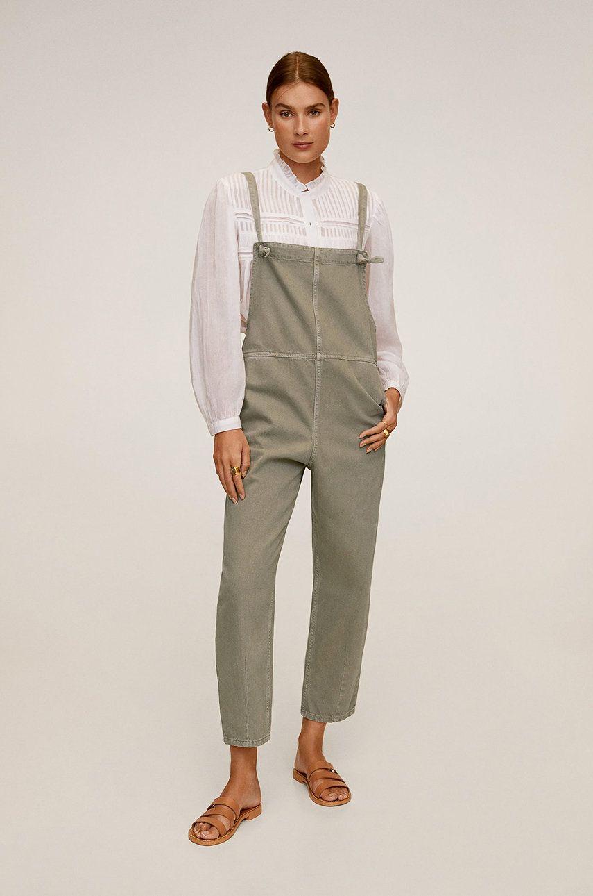 Mango - Salopeta jeans Khaki