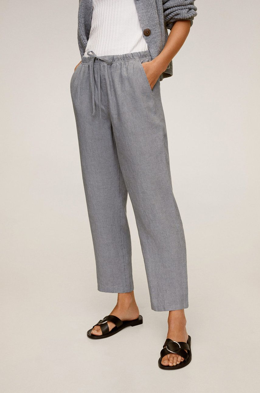 Mango - Pantaloni Linen