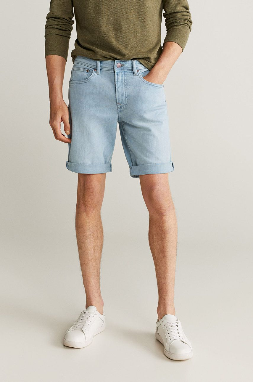 Mango Man - Pantaloni scurti jeans Rock