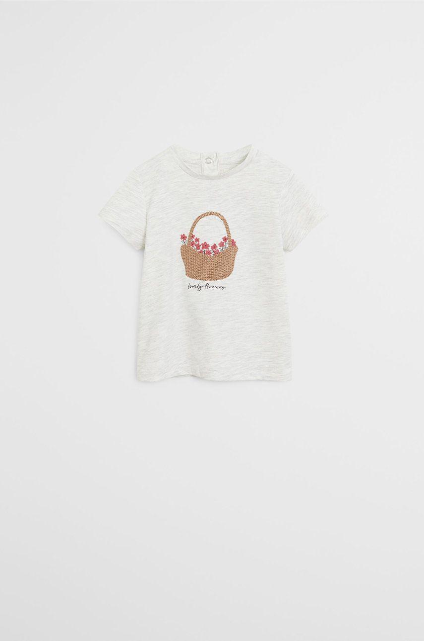Mango Kids - Tricou copii CESTA 80-104 cm