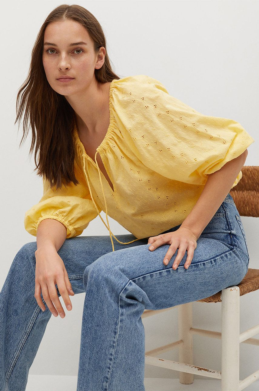 Mango - Bluza din bumbac Brisbain