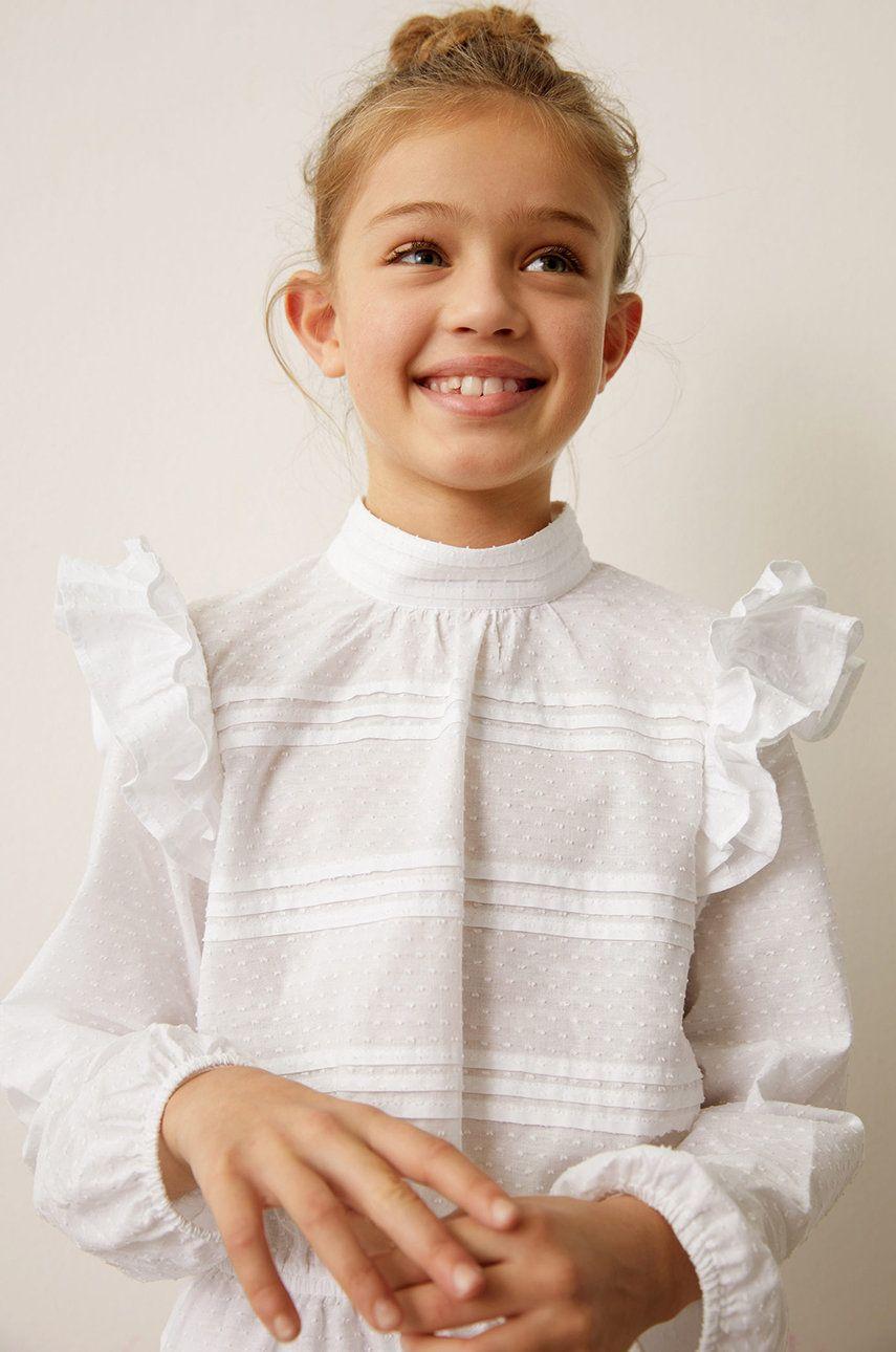 Mango Kids - Bluza de bumbac pentru copii Yvette 116-164 cm de la Mango Kids