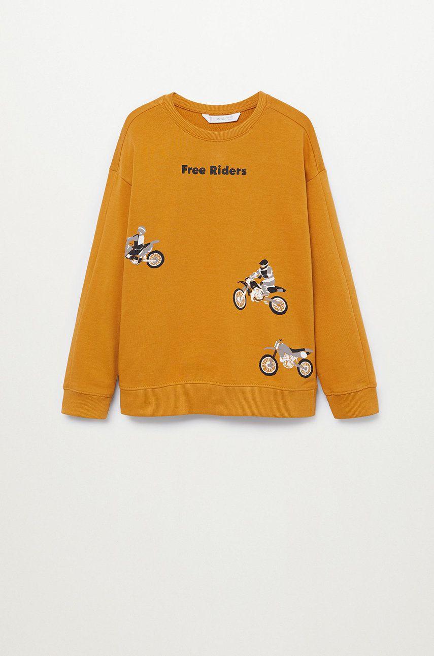 Mango Kids - Bluza copii WORDING poza answear
