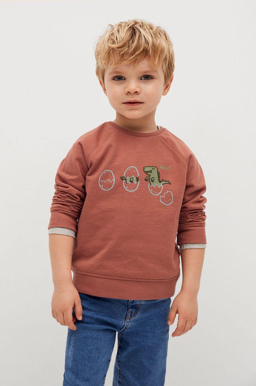 Mango Kids - Hanorac de bumbac pentru copii ATLAS imagine answear.ro 2021