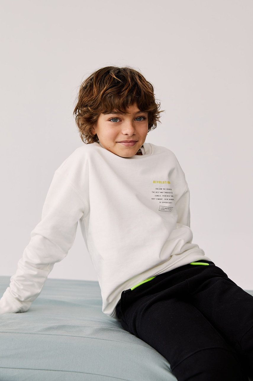 Mango Kids - Hanorac de bumbac pentru copii FOLLOW imagine answear.ro 2021