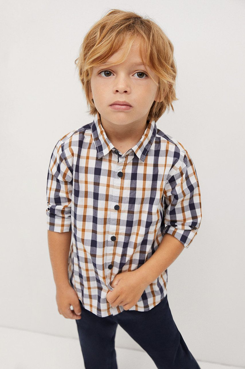 Mango Kids - Camasa de bumbac pentru copii CHECKS8 imagine