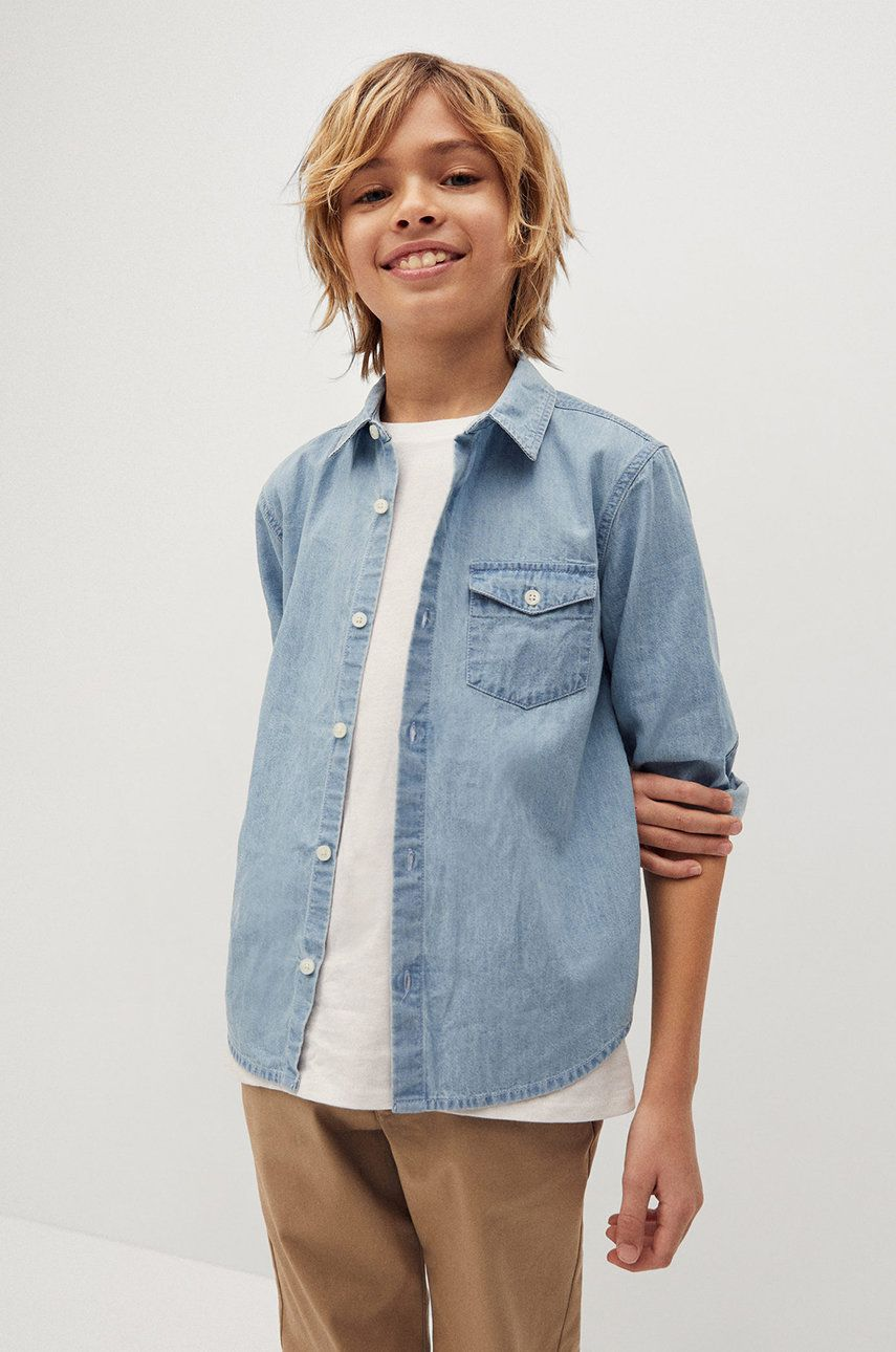 Mango Kids - Camasa de bumbac pentru copii Daniel 110-164 cm answear.ro