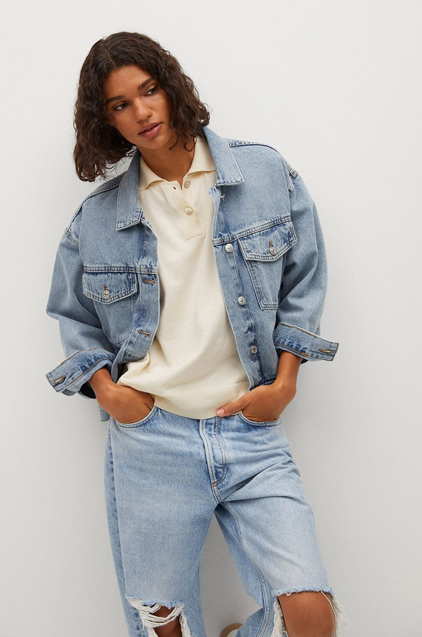 Mango - Geaca jeans RACHEL de la Mango