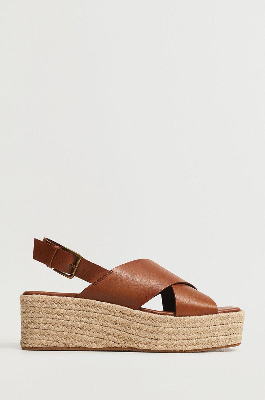 Mango - Sandale de piele YOUNG
