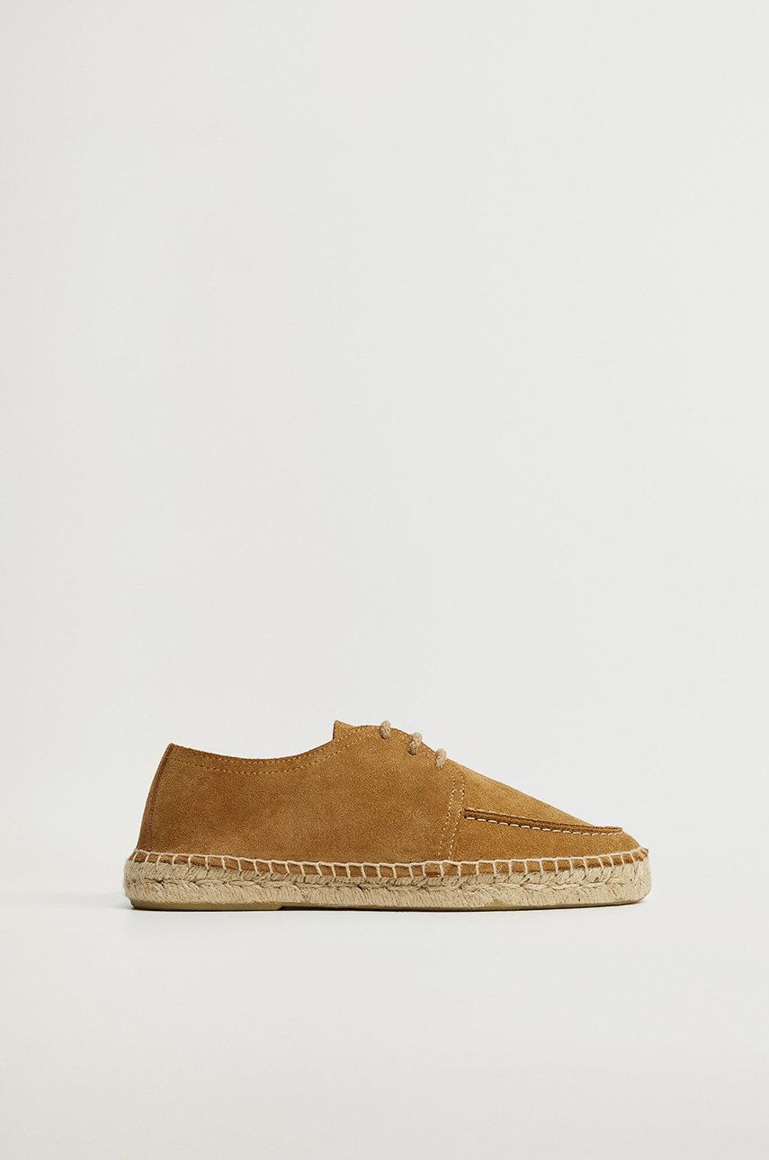 Mango Man - Pantofi de piele intoarsa NAUTIC