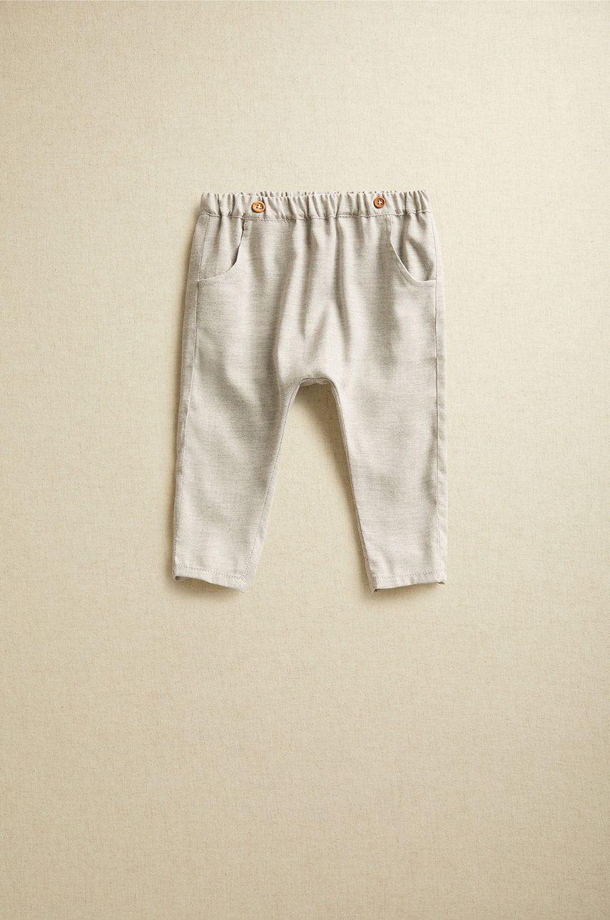 Mango Kids - Pantaloni bebe CARLOS imagine answear.ro 2021