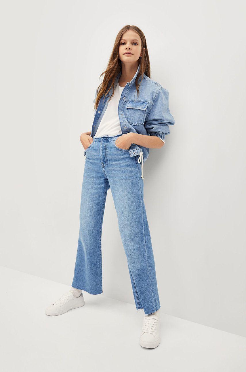 Mango Kids - Jeans copii FRAYED imagine answear.ro 2021