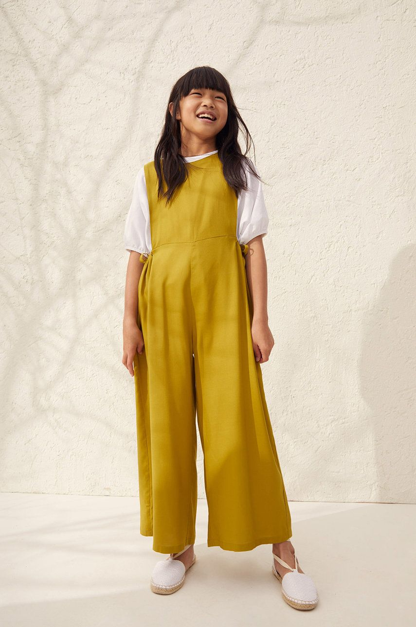 Mango Kids - Salopeta copii Ella 128-164 cm imagine answear.ro