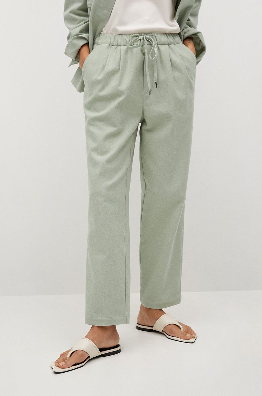 Mango - Pantaloni SPRING imagine answear.ro 2021