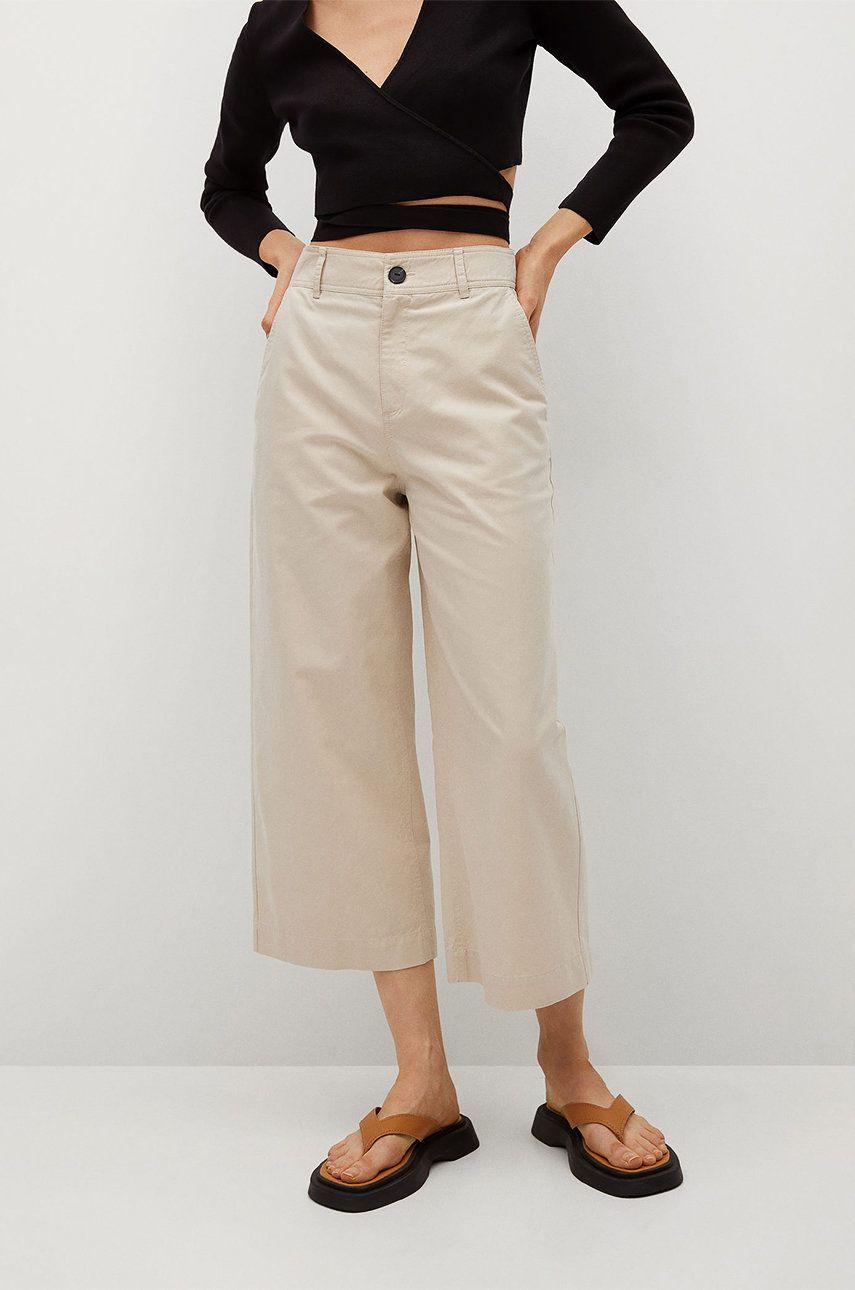 Mango - Pantaloni Leandra