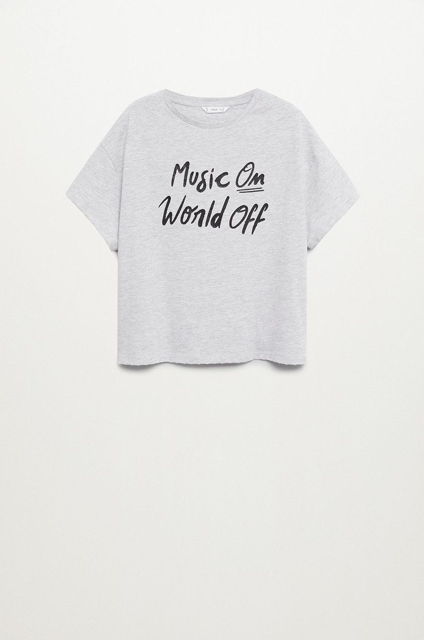 Mango Kids - Tricou copii WORLD de la Mango Kids