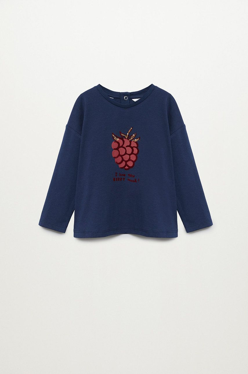 Mango Kids - Longsleeve copii BERRY imagine