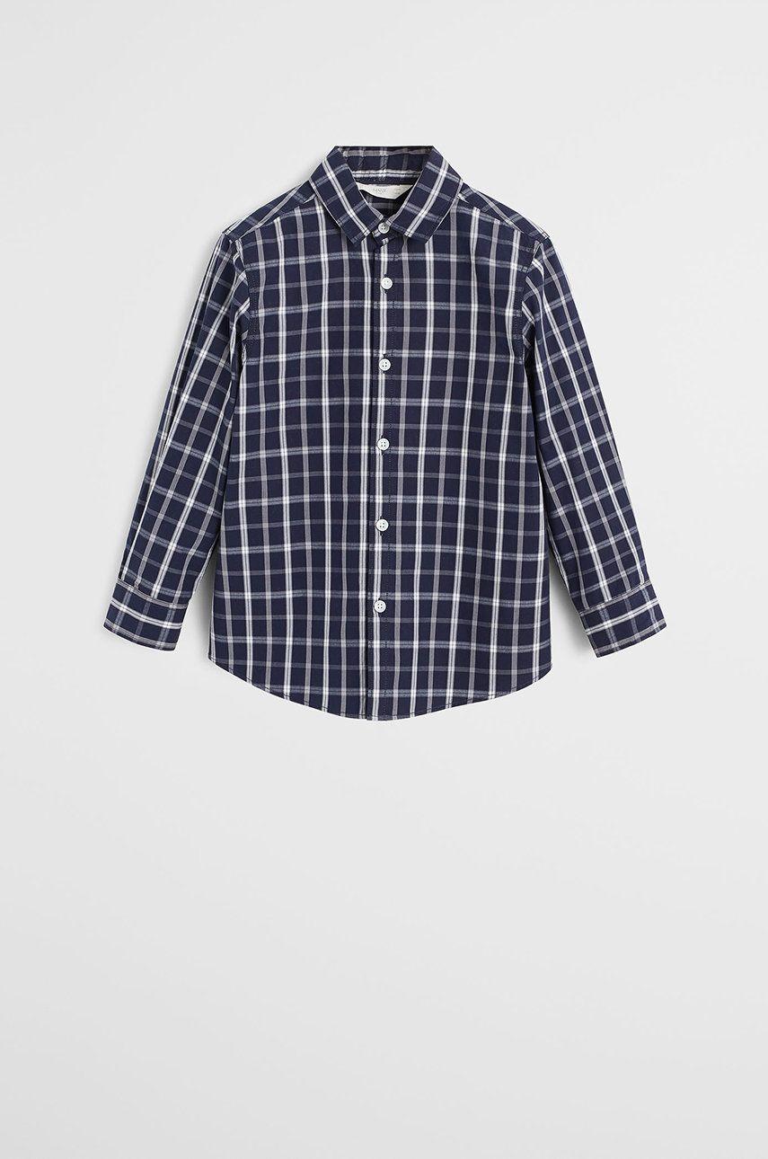 Mango Kids - Detská košeľa Checks 110-164 cm