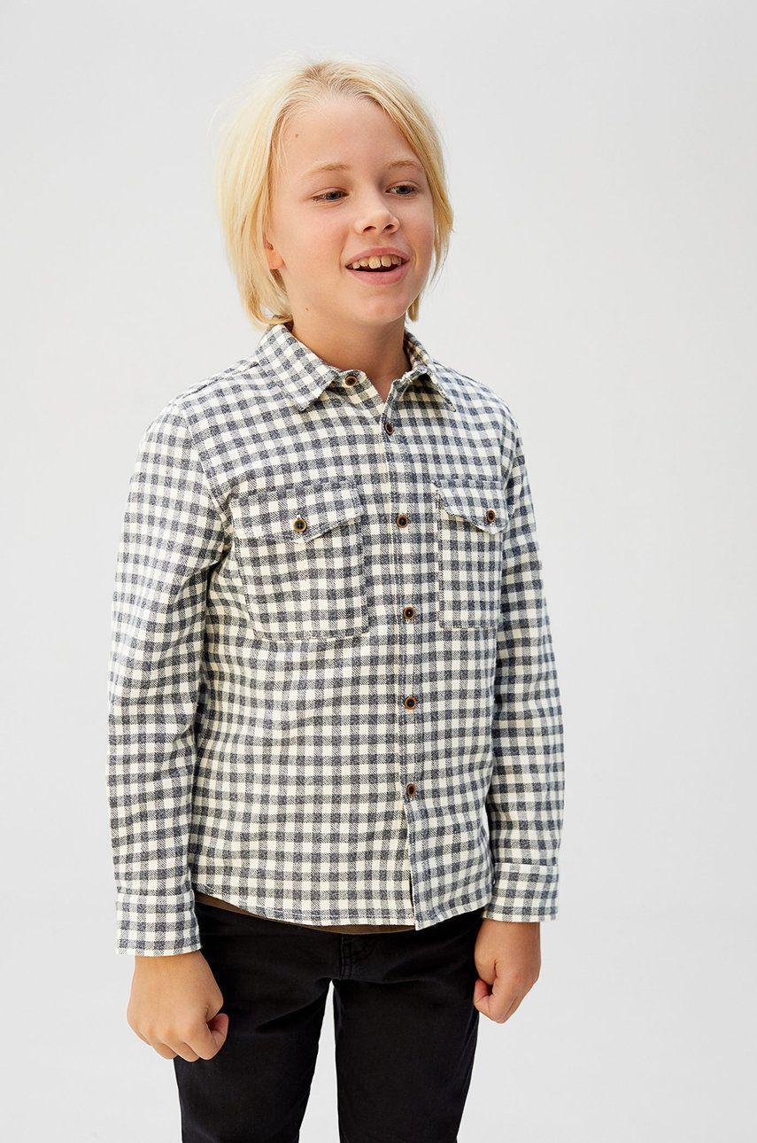 Mango Kids - Detská košeľa Caleb 110-164 cm