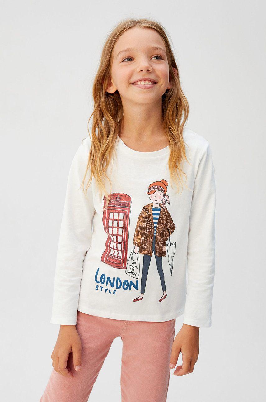 Mango Kids - Detské tričko s dlhým rukávom Tourist 110-164 cm