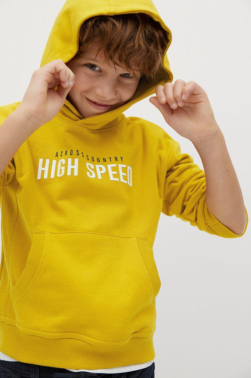 Mango Kids - Hanorac de bumbac pentru copii 110-164 cm poza
